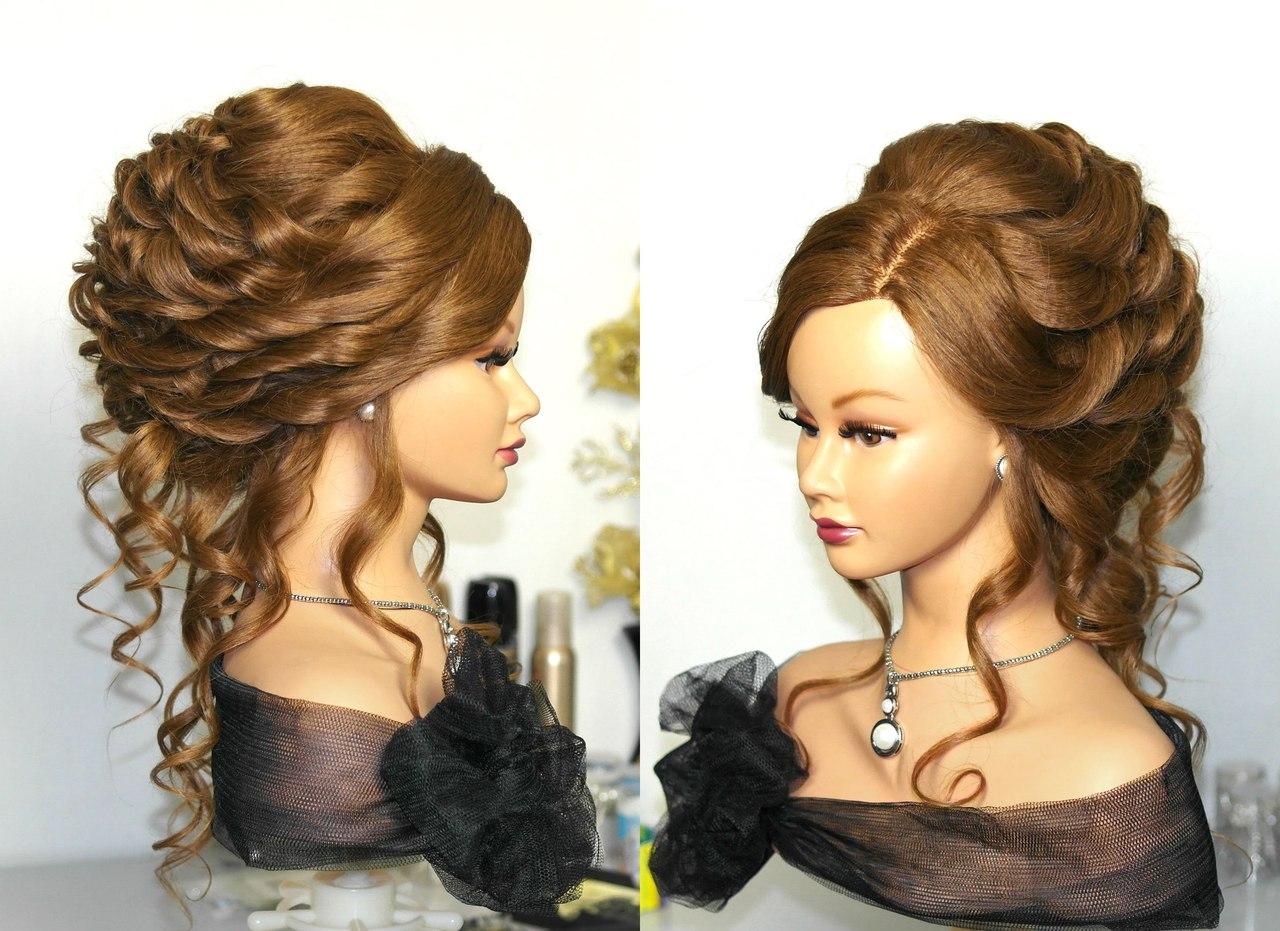 Красивая прическа вечерняя на длинные волосы
